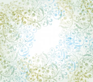 Vector background with a flower pattern.