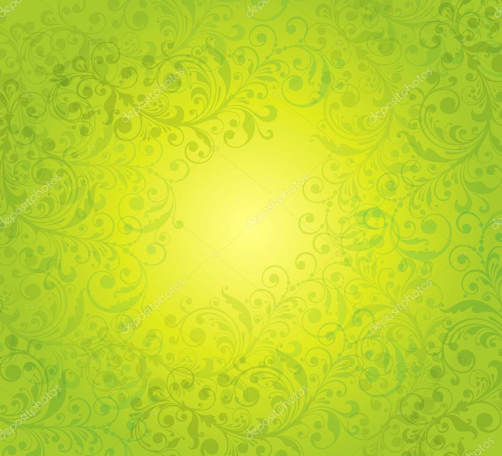 Abstract background with a green pattern