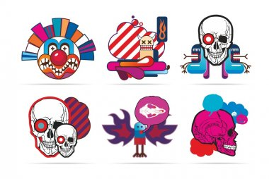 Icons with skulls