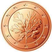 Vektor pénzt euro cent Németország