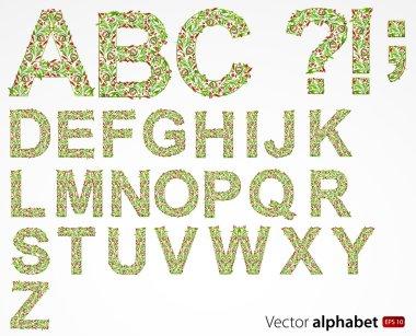 Vector floral alphabet
