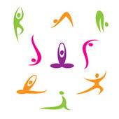 Yoga - eine Reihe von Ikonen