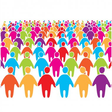 Big-crowd-of-many-colors-social--group