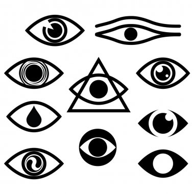 Eye. Character set - eyes