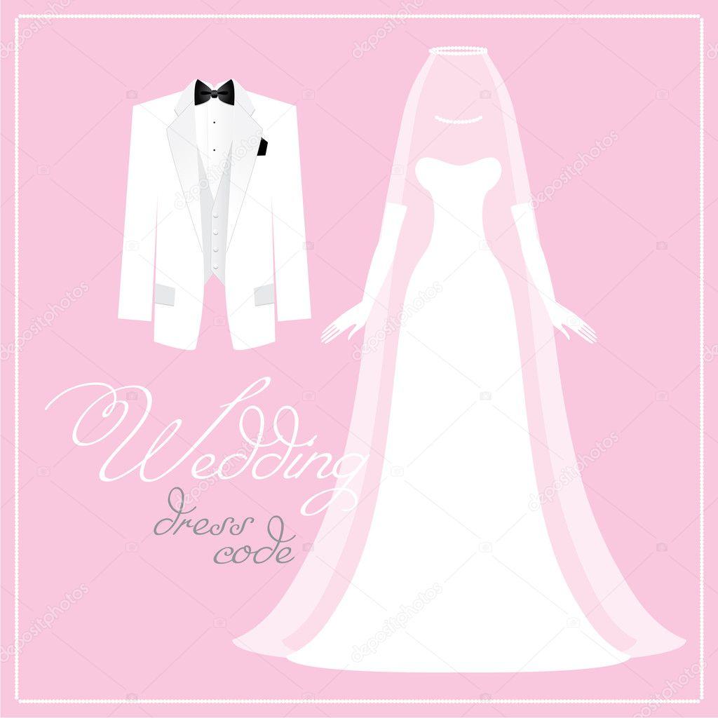 Wedding-dress-code — Stock Vector © antoshkaforever #6324558