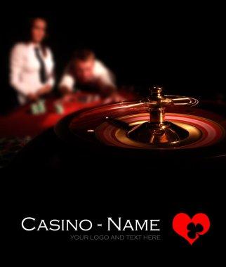 Casino Roulette black poster