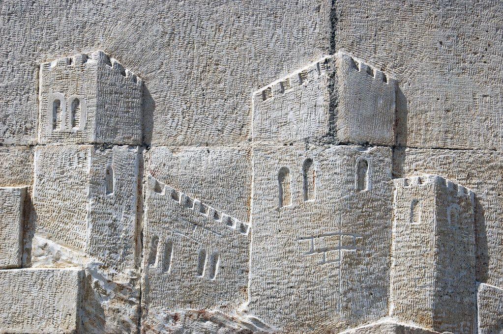 Peinture Murale De Château En Relief Photographie Guillermo 5555497