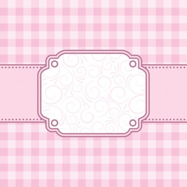 Pink frame. Vector illustration.