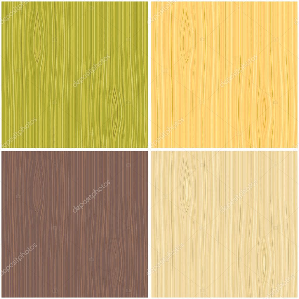 A set of wooden texture Vector illustration.