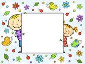 Fényképek gyermek keret. vektoros illusztráció