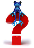 Blue Frog with a question