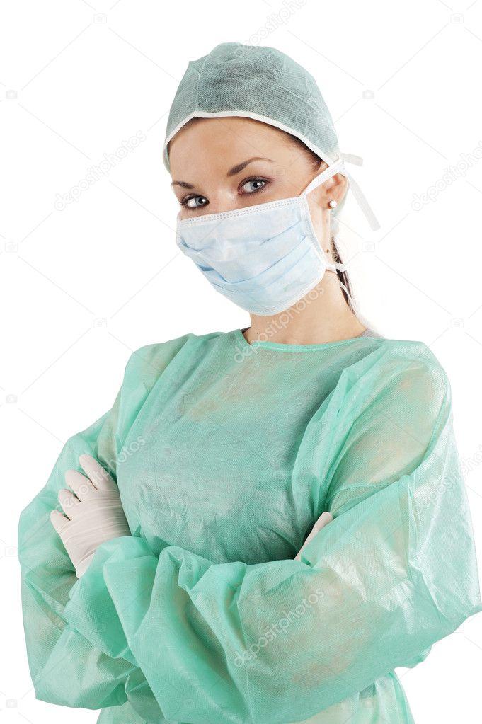 глазами красивыми медсестры с