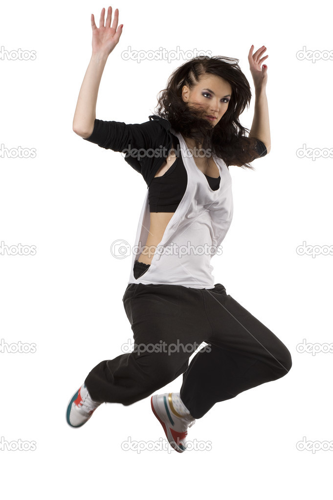 Girl Hip Hop Dancer Jumping  Stock Photo  Carlodapino -3716