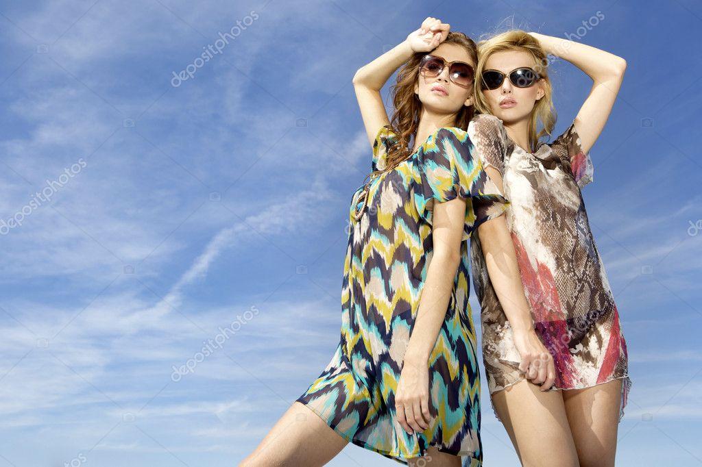 Two beautiful and sensuality girls