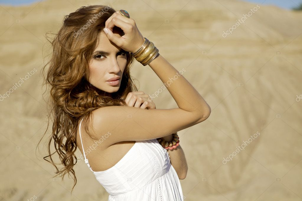 Beautiful adult sensuality and attractive woman