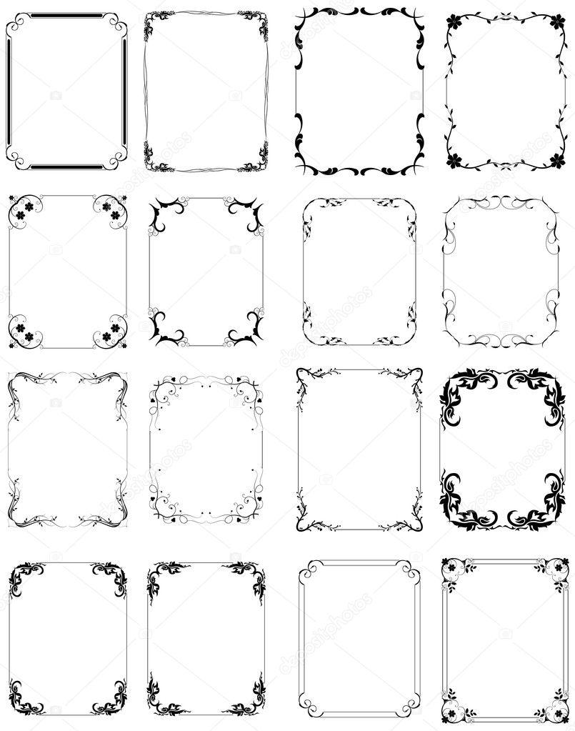 conjunto de marco orgánico elegancia — Archivo Imágenes Vectoriales ...