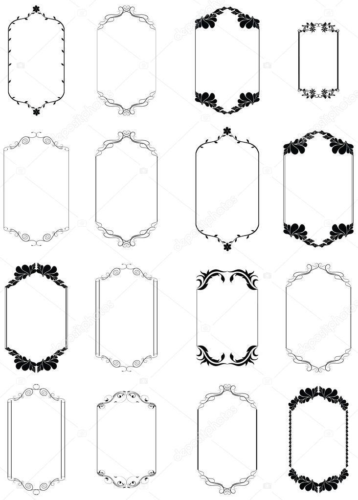 Thin Border Elementary Frames