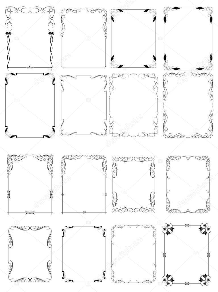 Ornate Elementary Vector Frames