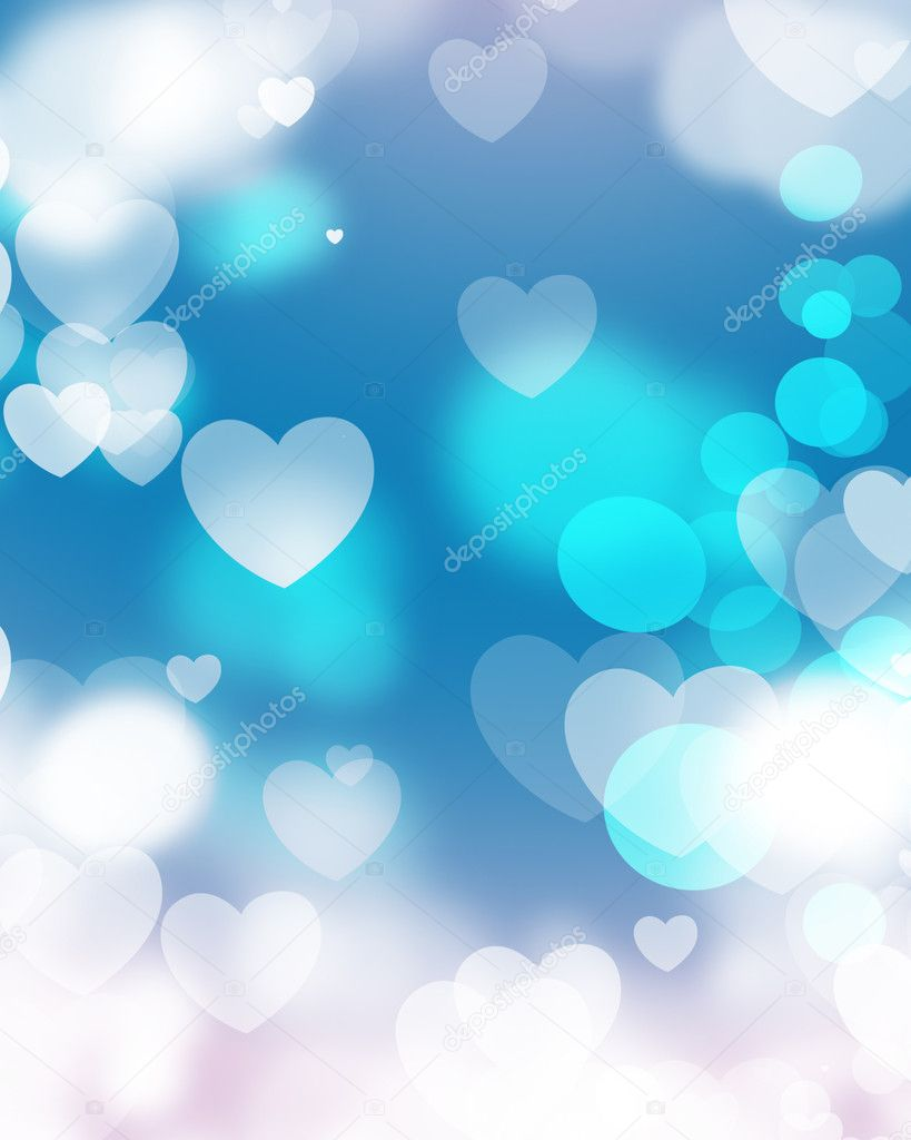 Background image 7945 - Decorative Conceptual Isolated Creative Heart Shape Blur Bubbles Background Photo By Baavli