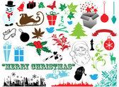 Fényképek Vektoros illusztráció - készlet karácsonyi ikonok és grafikus, vektor stock