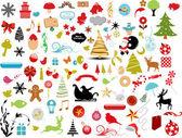 Fotografie vektorové ilustrace - sada vánoční ikony a grafické vektorové akcií