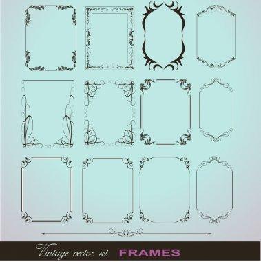 Corner Illustration Elements Frames
