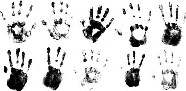 Set Of Vector Hand Prints Designs