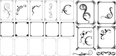 Artistic Illustrated Frame Design Set