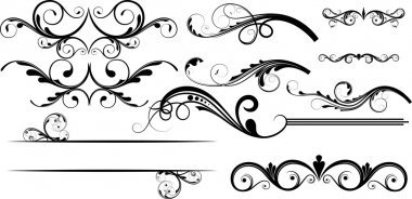 Creative Collection Of Swirl Decor Flourish Elements