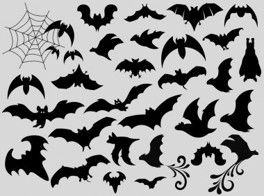 Bats Silhouettes Collection