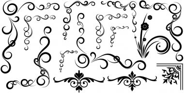 Isolated Creative Vintage Flourish Artistic Frame Corner Designs stock vector