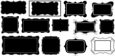 Black Shape Picture Frames