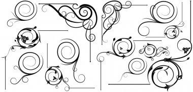 Spiral Swirl Design Corner Set