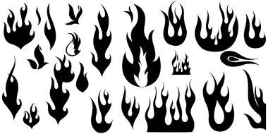 Vintage Fire Flame Shapes
