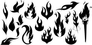 Fire Flame Silhouettes