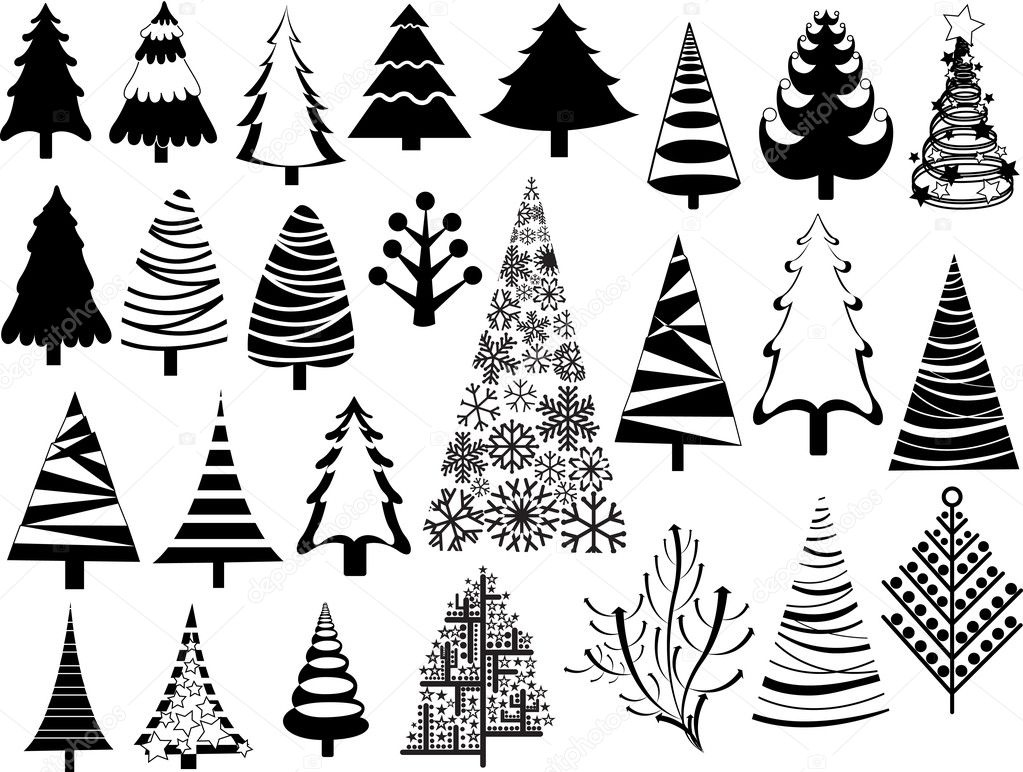 Vintage Design Christmas Trees Collection