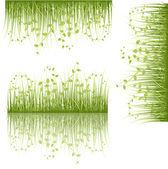 sada víření listů trav