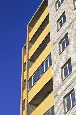 Building against the blue sky