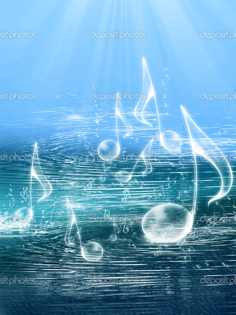 FLOATING MUSIC NOTES