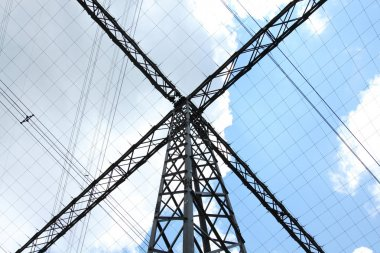 Special type of power transmission tower with cables