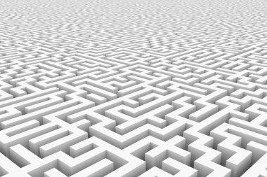 White infinity maze.