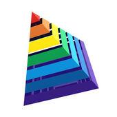 a szivárvány piramis közelről