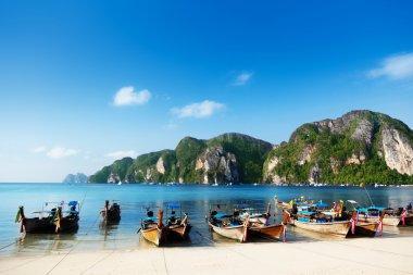 Boats on Phi Phi island Thailand
