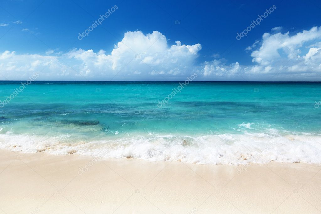 Beach on Catalina island Dominican republic