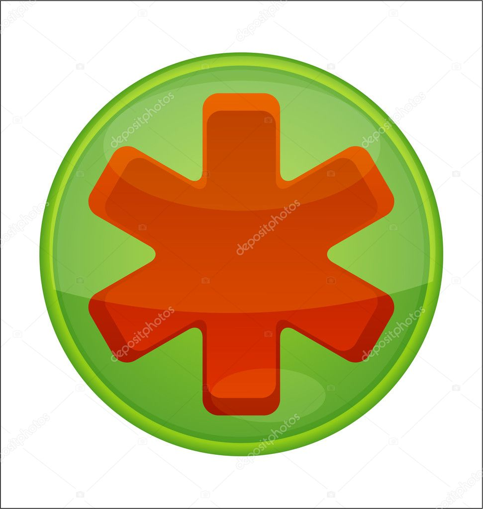 Sanitäter symbol  Symbol Notfall rot isoliert — Stockvektor #6111647
