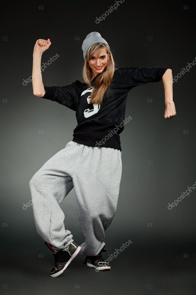 chica con estilo hip-hop — Foto de stock © grafoto  6419760 028f3081588