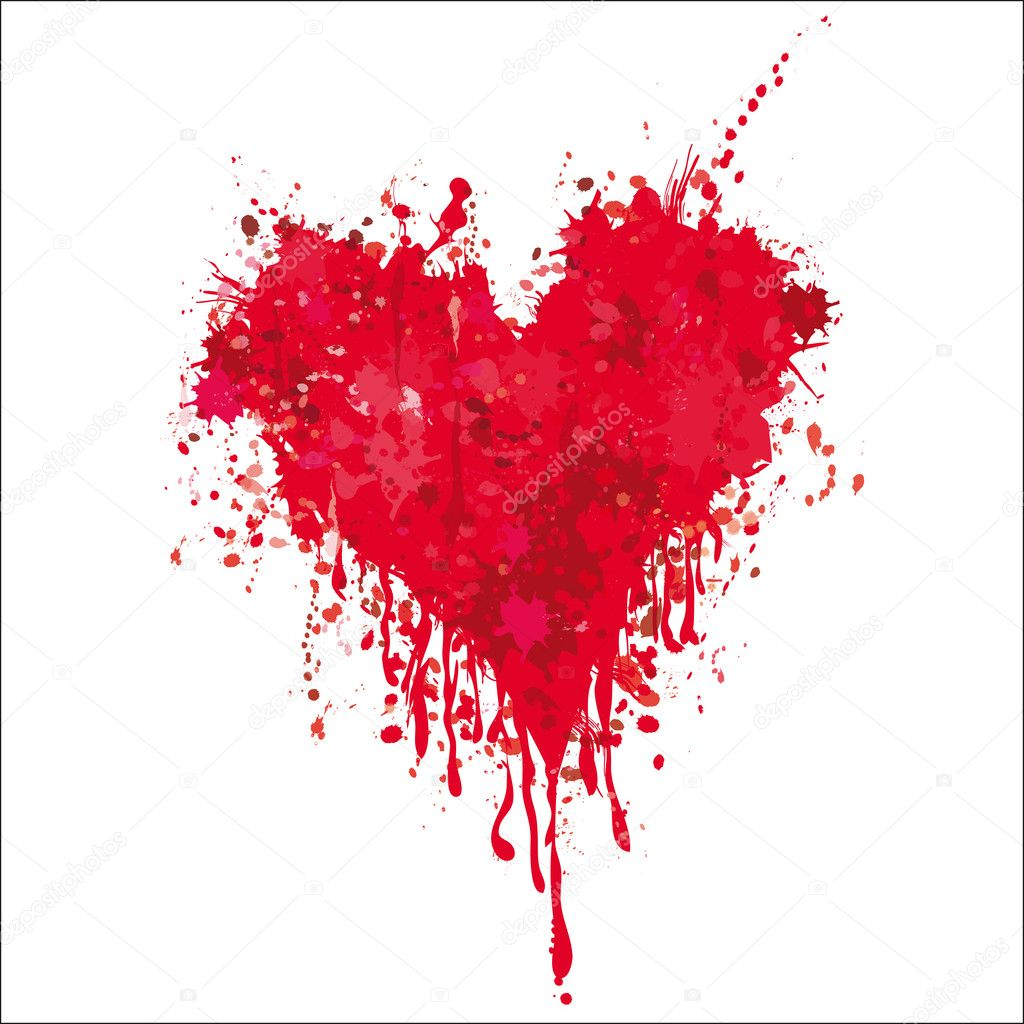 Heart with blood