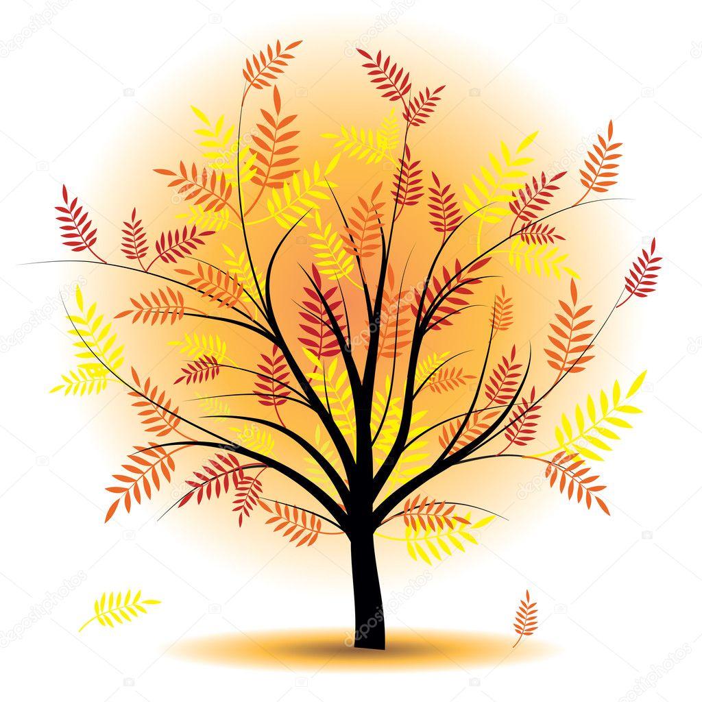 Beautiful autumn tree.