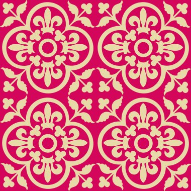 Red royal pattern