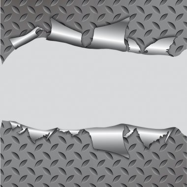 Torn metal texture.